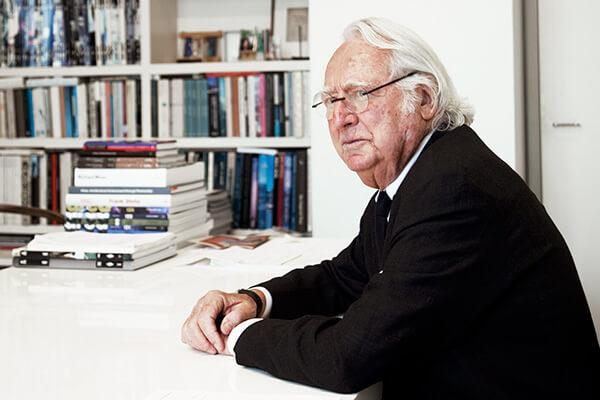 Richard Meier '56, pictured at his New York City office, made an endowed scholarship gift to benefit graduate architecture students at the College of Architecture, Art, and Planning.