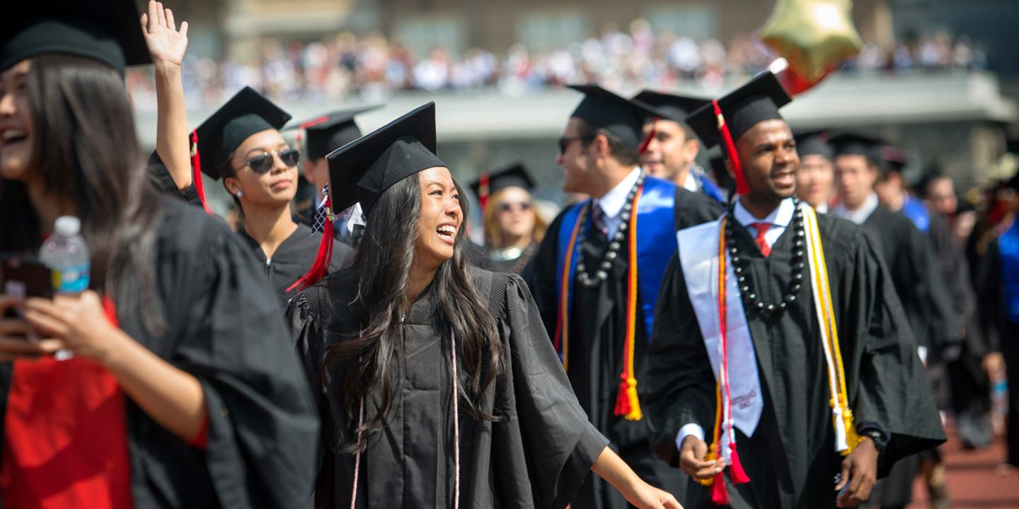 2015 Commencement Weekend: Students enter Schoellkopf Stadium for the Commencement Ceremony.