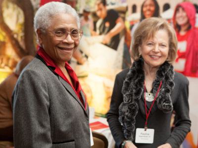 Pauline Degenfelder (R) at the 2013 Cornell Alumni Leadership Conference (CALC).