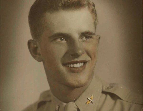Craig Voorhees beams in a US Army Air Forces portrait, circa 1944.