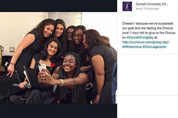 Cornell University Chorus members