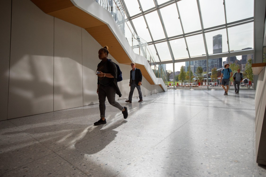 Students on campus at Cornell Tech.