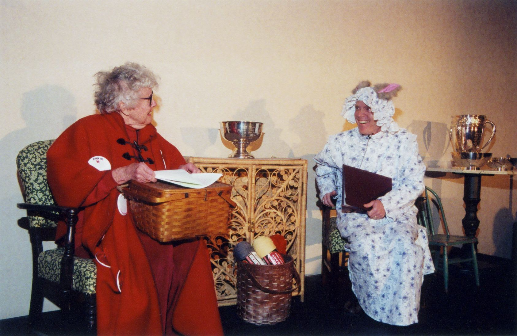 Margaret Mitchell '47 as Little Red Riding Hood in 2005.