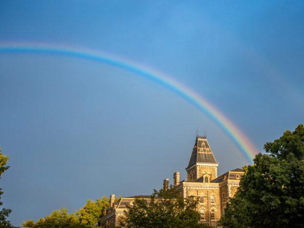 Rainbow over McGraw Hall