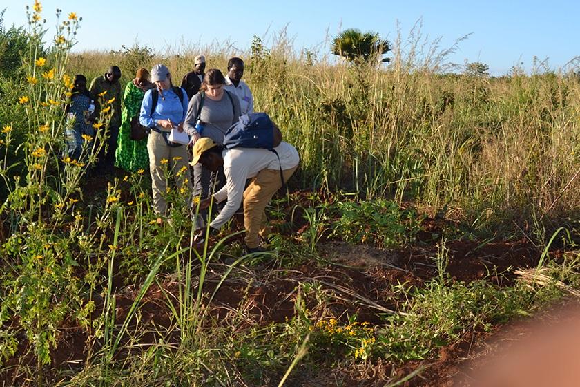 Engineers Without Borders-Cornell team members in Sunuka, Tanzania