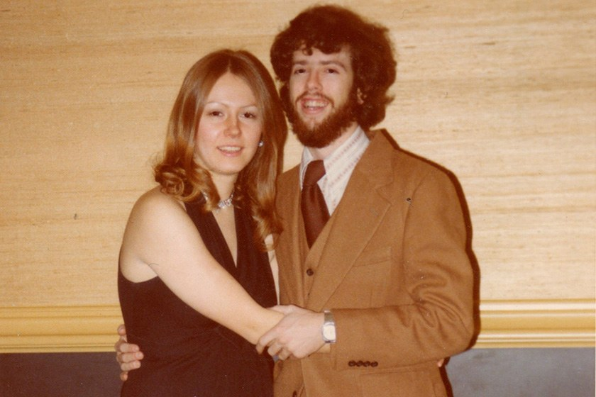 Karen Hasby Epstein '77 and Larry Epstein '76, MBA '78 at a Pi Beta Phi formal in 1976.