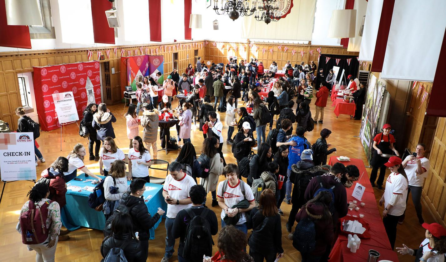 Giving Day 2019 in Willard Straight Hall