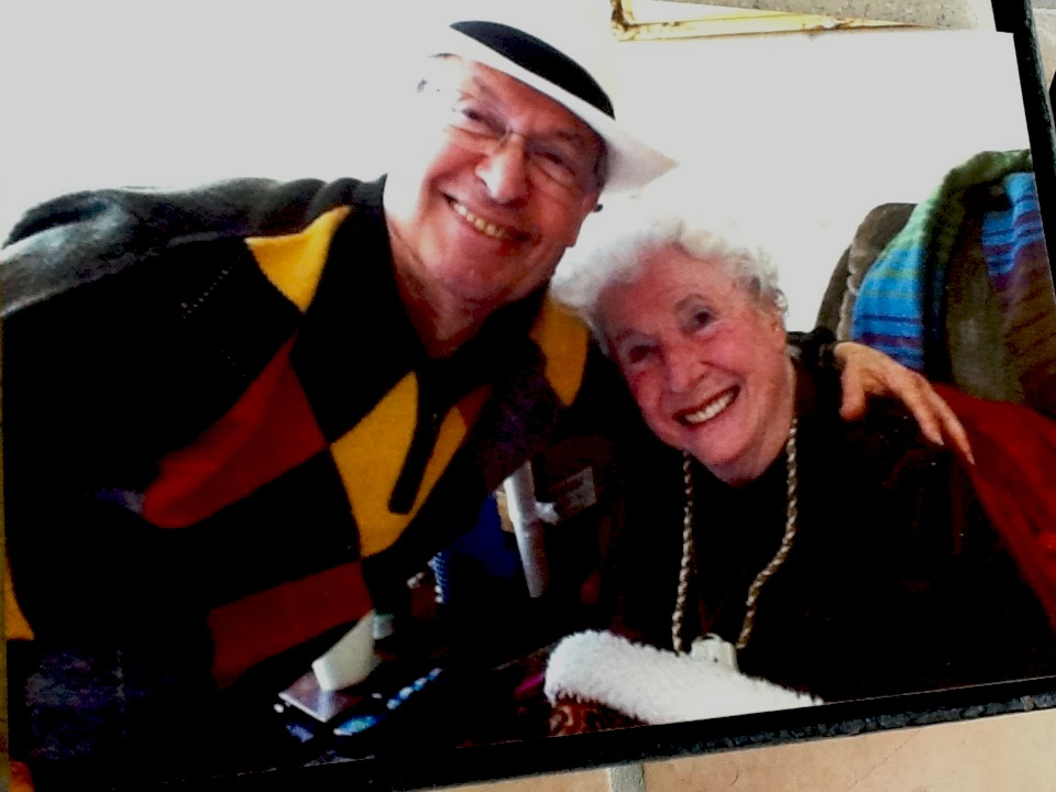 Androulakis visiting with Ruth Ann Brown in June 2014.