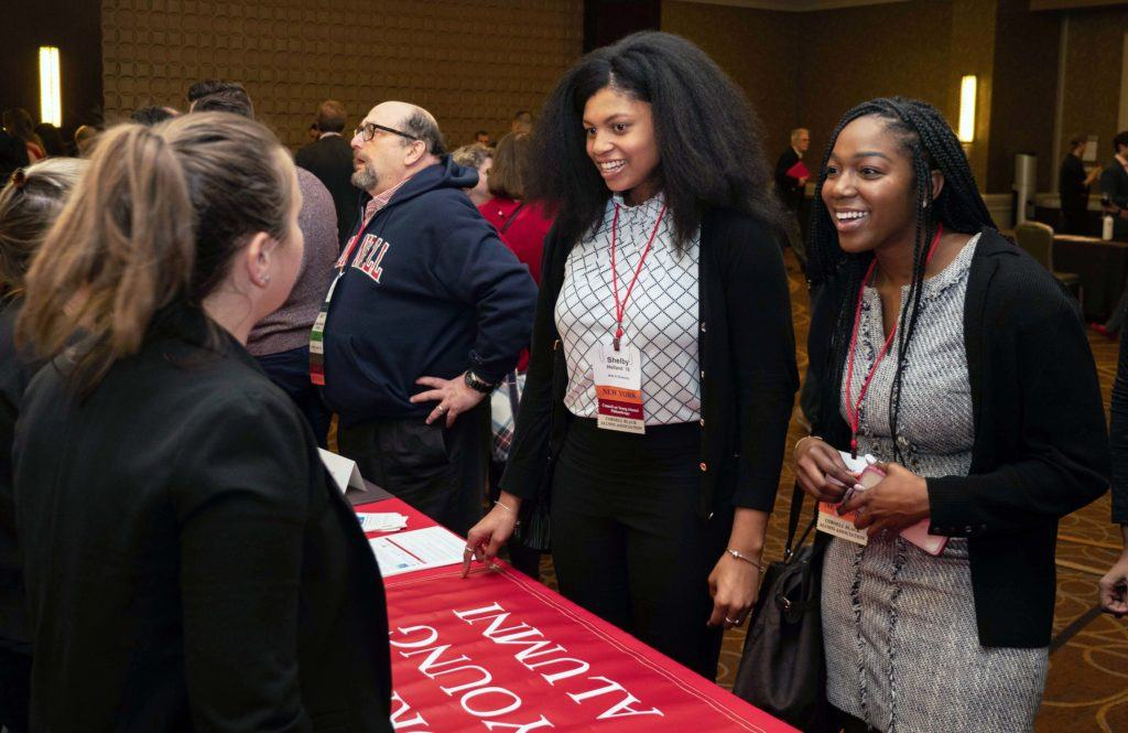 Shelby Holland '18 and Kennedi Williams-Libert '17 at the Cornell Alumni Leadership Conference in February 2019.