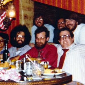 David Strip and several classmates from the OR program at the ORSA/TIMS conference (the principal conference of the OR profession), in New Orleans in 1980.