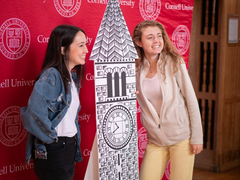 Students pose for photos during Giving Day 2019