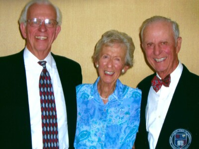 Dick Miller '56, MBA '58, Betty Miller Francis '47, and Peter P. Miller, Jr. '44, MBA '48.