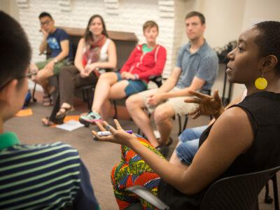 Graduate students participate in the 2016 Intergroup Dialogue Project (IDP).