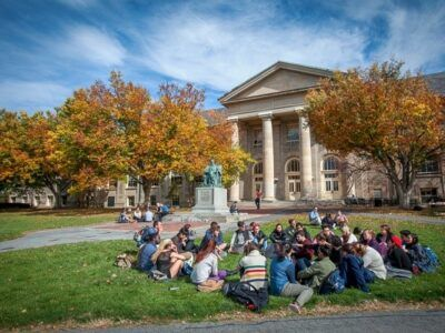 Students on the Arts quad
